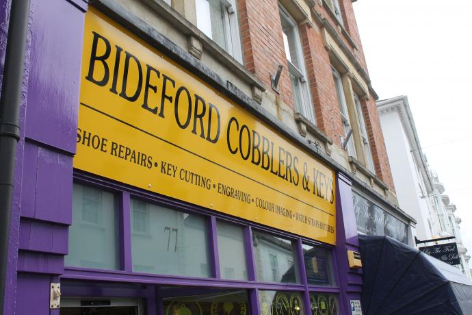 Bideford Cobblers and Keys Shop Front Mill Street