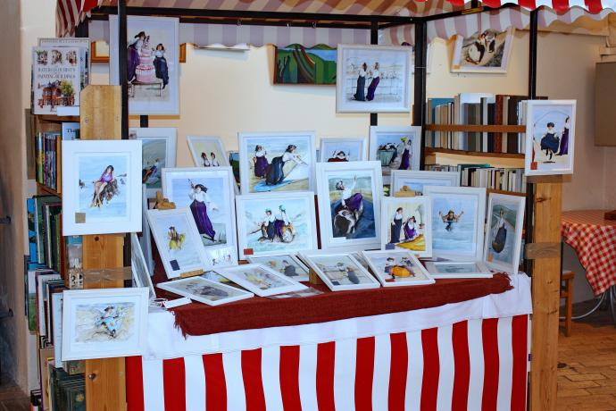 Sue's Lady Paintings Bideford Pannier Market Stall