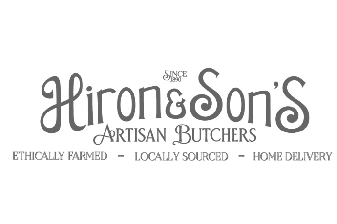 hiron and sons artisan butchers logo bideford mill street