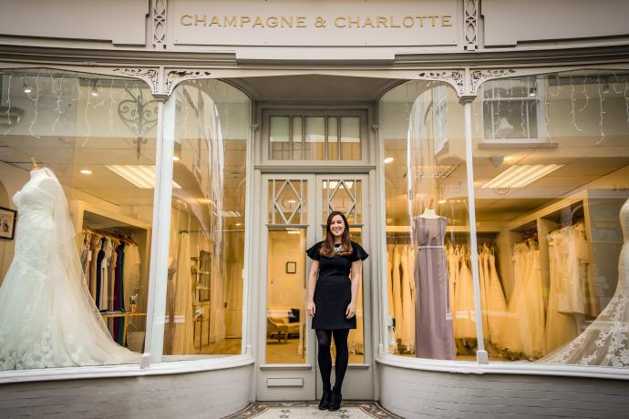 Champagne and Charlottee Allhalland Street Bideford Shop Front