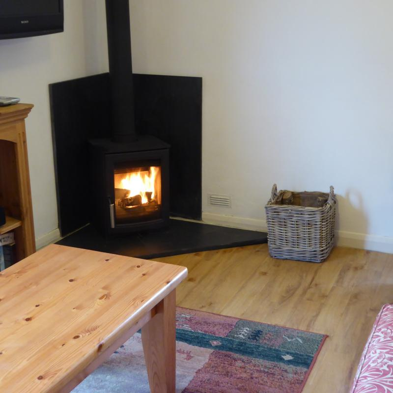 Robin Hill Farm Cottages Nr Littleham Wood Burner