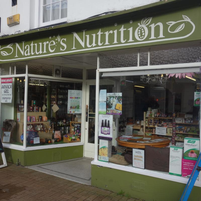 natures nutrition bideford exterior shop front